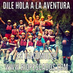 Dile hola a la #aventura en #Jalcomulco http://www.riopescados.com #Veracruz #Mexico