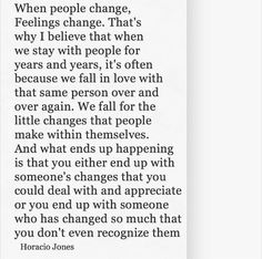 Some people just change...