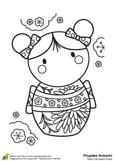 Kimmi Dolls Coloring Page