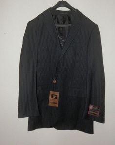 The color is black with stripes. the size is 40.   eBay!
