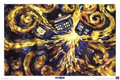 """Doctor Who Season 5 Episode 12 """"The Pandorica Opens"""" flashes back to Season 5 Episode 10 """"Vincent and the Doctor"""" to show Van Gogh's prediction of the future. Poster available from Allposters.com for $9.99"""