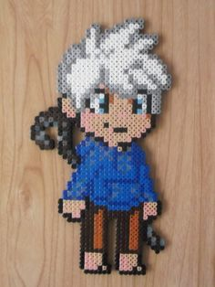 Jack Frost perler beads by CrazyHamaGuyBeads on Etsy Hama Beads Disney, Diy Perler Beads, Perler Bead Art, Pearler Beads, Pearler Bead Patterns, Seed Bead Patterns, Perler Patterns, Beading Patterns, Pixel Art