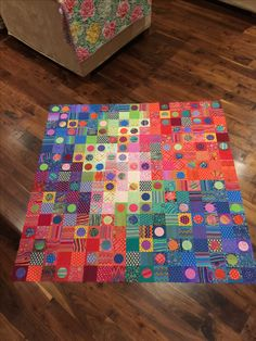Losing My Marbles quilt from Kaffe Fassett's book Quilts In Italy. Kits available from many retailers including my store www.sewcolorful.com