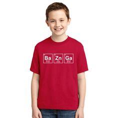 Bazinga Chemical Element Big Bang Sheldon Youth T-shirt