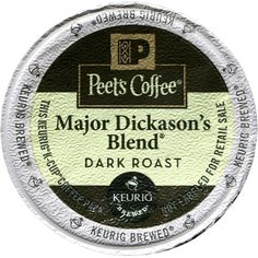 Peet's Coffee Major Dickason Blend Single Cup Coffee for Keurig K-Cup Brewers 40 count *** Click image to review more details.