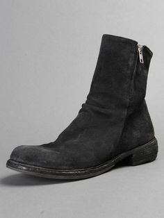 Cozy Wednesday w/ Officine Creative leather boots with double zip closure on both sides