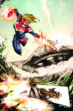 Check out this preview art of Captain Marvel #3 by Dexter Soy.