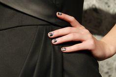 plaid painted nails #nailart at alice + olivia fall