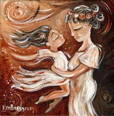 Child Of Motion - mother and daughter print by Katie m. Berggren