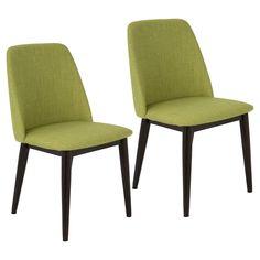 Tintori Mid Century Modern Dining Chair (Set of 2) - Green - LumiSource