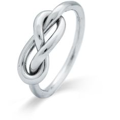 Infinity Knot Sterling Silver Ring found on Polyvore featuring jewelry, rings, infinity ring, sterling silver jewellery, sterling silver infinity jewelry, knot jewelry and sterling silver jewelry