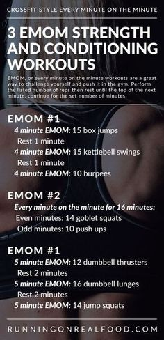 3 CrossFit EMOM Workouts for Conditioning and Total Body Strength The Effective Pictures We Offer Yo 20 Minute Hiit Workout, Emom Workout, Basic Workout, Cardio Workouts, Workout Routines, Workout Ideas, Kettlebell Cardio, Quick Workouts, Extreme Workouts