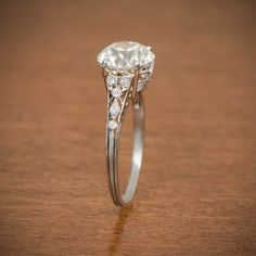Rare Edwardian Engagement Ring - Antique Engagement Ring. Circa 1910 by EstateDiamondJewelry on Etsy https://www.etsy.com/listing/254539345/rare-edwardian-engagement-ring-antique