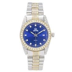 Jean Paul 37mm Gold and Silver, Diamond Ice Men's Watch