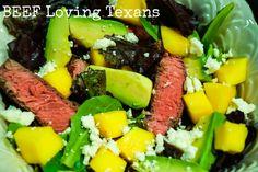Beef, Mango & Avocado Salad is healthy, delicious and EASY!