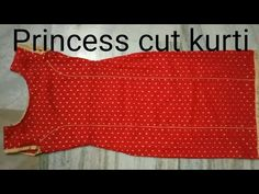 Princess cut kurti cutting and stitching in hindi by easy stitching Salwar Suit Neck Designs, Neck Designs For Suits, Kurta Neck Design, Sleeves Designs For Dresses, Dress Neck Designs, Kurta Designs, Neckline Designs, Baby Girl Dress Patterns, Dress Sewing Patterns