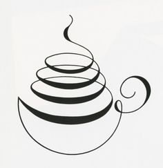 Coffee - Love this simple coffee design I Love Coffee, My Coffee, Coffee Shop, Coffee Cups, Coffee Corner, Espresso Coffee, Coffee Time, Coffee Maker, Coffee Barista