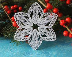 ALTA Schneeflocken Papier quilled Ornament von OrnamentHouse