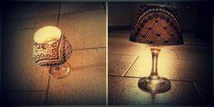 Ποτήρι κρασιού, ρεσό, καπέλο από χαρτί=> Μπαρόκ φωτιστικό