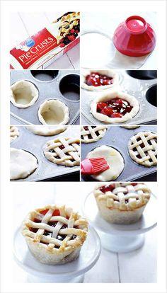 Mini Berry Pies http://www.tablespoon.com/recipes/mini-pies-in-a-cupcake-tin/8f1f2894-2665-49ba-905a-146c352bd16f