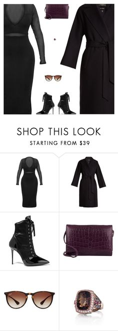 """""""Untitled #5336"""" by amberelb ❤ liked on Polyvore featuring Giuseppe Zanotti, Stalvey, Ray-Ban and LE VIAN"""