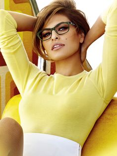Eva Mendes -Vogue Eyewear 2013 Campaign. Discover and shop your favorite fashions right on your phone. Download our app at getrockerbox.com.