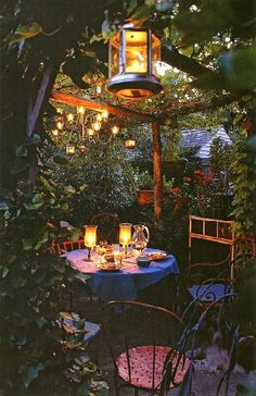 date night in the garden.