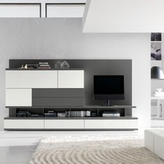 Odion freestanding wallsystem in grey & white