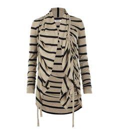 Stripe Plume Cardigan, Women, Sweaters, AllSaints Spitalfields