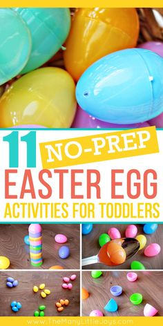 Need a way to keep your toddler busy until the Easter bunny arrives? These simple activities require absolutely NO prep (assuming you have a few plastic eggs lying around), and they'll provide hours of entertainment. Easter Party Games, Toddler Party Games, Easter Activities For Toddlers, Games For Toddlers, Learning Activities, Nutrition Activities, Toddler Learning, Party Activities, Classroom Activities