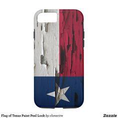 Flag of Texas Paint Peel Look