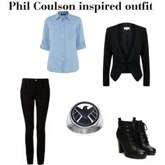 Phil Coulson inspired  by wolfie112-99 on Polyvore featuring polyvore mode style Jaeger Patrizia Pepe T By Alexander Wang
