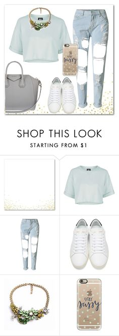 """""""Senza titolo #1005"""" by talulahj ❤ liked on Polyvore featuring Topshop, WithChic, Yves Saint Laurent, Casetify and Givenchy"""