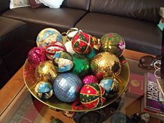 Christmas ball. Easy tutorial.
