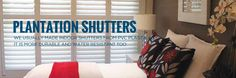 We have a complete range of practical and attractive looking #plantationshutters from which you can choose the perfect one for your specific needs.