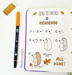How to Draw Fall Bullet Journal Doodles? Learn how to draw Bullet Journal Doodles with these step-by-step instructions. My favorite fall doodles - warm winter drinks, pumpkins, Halloween items. Bullet Journal 2019, Bullet Journal Ideas Pages, Bullet Journal Inspiration, Fall Drawings, Doodle Drawings, Doodle Art, Bujo Doodles, Doodles How To, How To Doodle