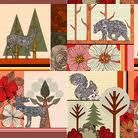 woodland fabric color palette - Google Search
