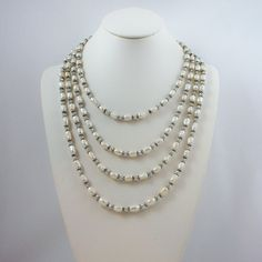 Renaissance 4 Strand Wedding Necklace by tbyrddesigns on Etsy, $79.00