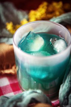 Blue Whale Cocktail Recipe \\ PasstheSushi.com