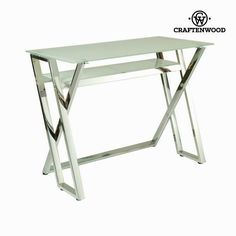 Writing desk white crystal by Craften Wood