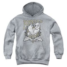"Checkout our #LicensedGear products FREE SHIPPING + 10% OFF Coupon Code ""Official"" Popeye / Forearms-youth Pull-over Hoodie - Heather - Popeye / Forearms-youth Pull-over Hoodie - Heather - Price: $49.99. Buy now at https://officiallylicensedgear.com/popeye-forearms-youth-pull-over-hoodie-heather"