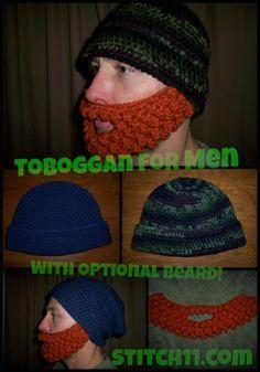 Toboggan For Men ~Free Crochet Pattern via Stitch11