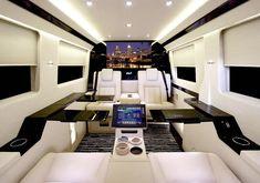 Bright White Luxury Private Jets Interior Design By JetVan