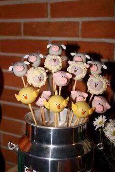 Pop cakes para festinha na fazenda!