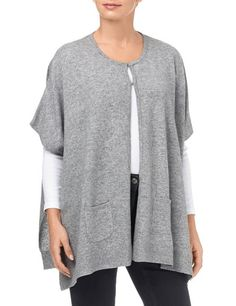 #GerryWeber Pink Moon #vest #poncho #cape tricot  grijs oversize