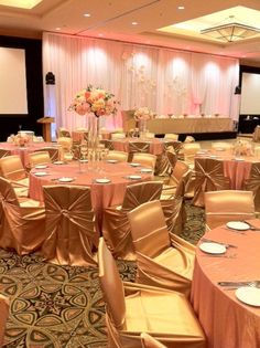 Gold & Pink at the Westin Bayshore Hotel #chairdecor #debuteventdesign