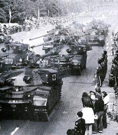 Chieftain tanks during parade