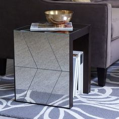 Herringbone Mirror Side Table | west elm / 0250