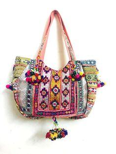 Vintage Banjara Boho Chic Hippie Tribal Ethnic Gypsy Bohemian Tote Bag