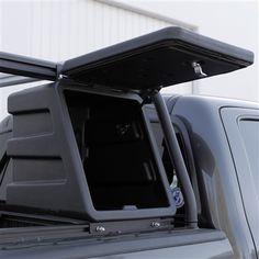 Need a truck bed rack that includes storage? The ACS integrated gear box is secure, water-resistant storage that installs easily on your ACS truck bed rack.
